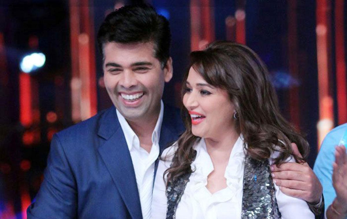 Madhuri dixit and karan johar collaborate for bucket list